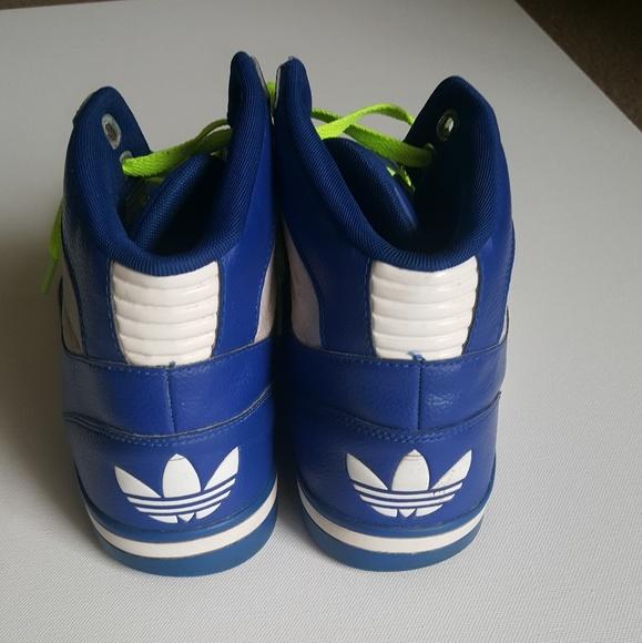 le adidas blu alte mens poshmark